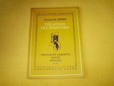 """Broschüre """"Die Söhne des Senators"""" von Theodor Storm -Reihe  Hamburger Lesehefte"""