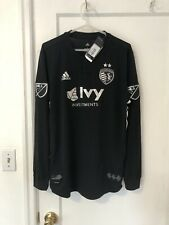 2018 2019 Sporting Kansas City SKC Soccer Jersey MLS Large Long Sleeve Authentic