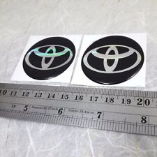 NEW 4 X TOYOTA Logo 50 mm Resin Wheel Center Caps Decal Emblem Sticker Badge