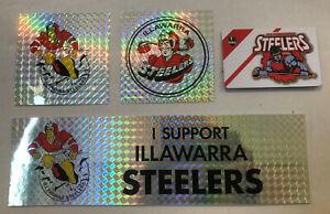 1990's ILLAWARRA STEELERS 8 Stickers & 2 Fridge Magnets