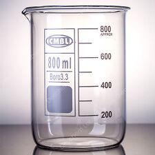 800ml Glass Beakerlow Form Beakersgood Qualitylab Chemistry Glassware