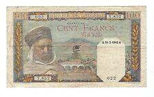 Algeria - 100 Francs 1942