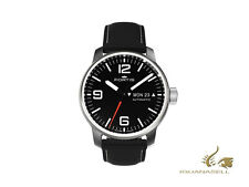 Fortis Cosmonauts Spacematic Steel Automatic Watch, ETA 2836-2, Black, 40mm