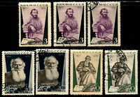 USSR RUSSIA #577-579 Leo Tolstoy Stamps Postage Set 1935 CTO OG Used MLH