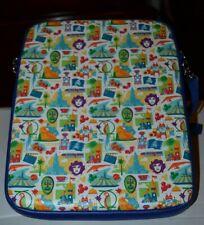 Disney World Attraction Icon iPad Tablet Case Crossbody Bag Kindle Purse New