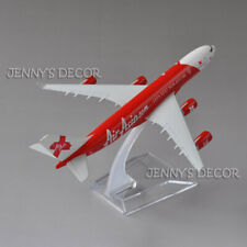 """Air Asia Airliner 6"""" Replica 1:400 Diecast Metal Plane Model Toy Airbus A340-30"""