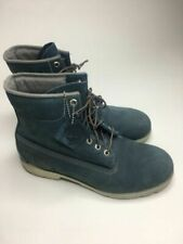 Men's Timberland Blue Suede Leather Waterproof Boots •Size 10.5M *EUC