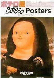 Fernando Botero Iconic Mona Lisa VERY RARE Out-of-Print Poster
