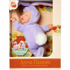 ANNE GEDDES 'Baby Bunny' Filled Soft Doll Lavender Purple - New in Box