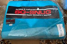 Vintage Retro Double Bed Blanket Aqua Blue So-snug Yorkshire