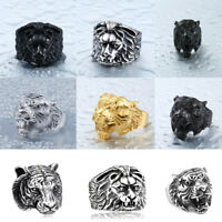 Boutique Titanium Stainless Steel Ring Men's Personality Bossy Decor Nature King