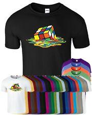 Melting Rubix Men T Shirt Big Bang Theory Puzzle Cube Gift Ladies Colour Tshirt