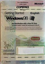Genuine OEM IBM Getting Started With Microsoft Windows 98 SE w/ COA - New/Sealed