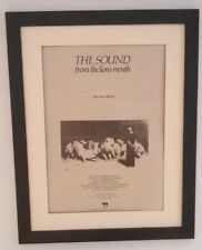 The SOUND*From The Lions Mouth*1981*ORIGINAL*POSTER*AD*FRAMED*FAST WORLD SHIP