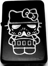 Hello Kitty Stormtrooper Star Wars Black Engraved Cigarette Lighter LEN-0156