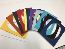 Picture Frame Mats set of 12 mats 8x10 for 5x7 photo oval Assorted colors