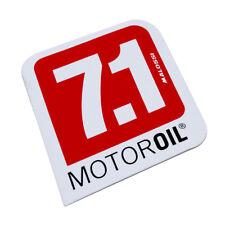 Aufkleber Sticker Malossi 7.1 MOTOR Oil rot schwarz mittel 85 x 85mm auf weiß