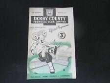 More details for 1951-52 div 1 derby county v liverpool