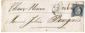 N°4 sur Lettre du 12/10/1852, cachet ambulant au verso sup.