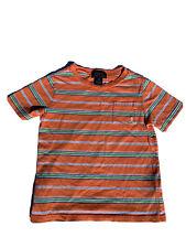 Polo Ralph Lauren T Shirt Size 24 Months Orange Stripes Front Pocket