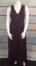 Cachet Purple Plum Mother of the Bride Dress Gown Sz 12