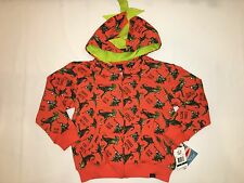 NWT $44 PAUL FRANK Dino Mite The collection hoodie jacket BOY size 5 orange
