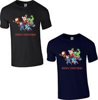 Avengers Christmas T-Shirt, Marvel Santa Superhero Captain America Xmas Gift Top