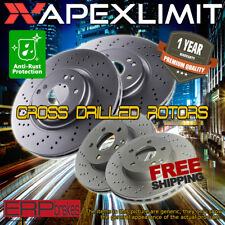 Front and Rear Cross Drilled Rotors for 2011-2015 Chevrolet Silverado 2500HD