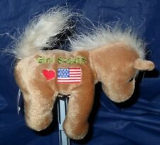 """~RARE~ BRAND NEW  *MARY MEYER """"GIRL SCOUTS LOVE THE FLAG / USA""""  BEANIE HORSE"""