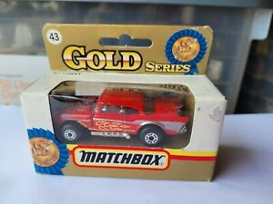 MATCHBOX 1992 - '57 CHEVY [RED] NEAR MINT VHTF BOX GOOD COMBINED POSTAGE