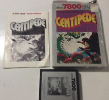 Centipede (Atari 7800, 1987) includes cartridge, instructions and box