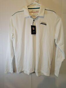 Jacksonville Jaguars Nike Dri-Fit White Long Sleeve Polo AO3684-100 XXL 2XL