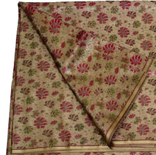 PURE SILK WOVEN BROCADE FABRIC Selling by Yardage Beige