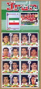 Complete Set Iran Panini Album WC WM France 98 1998 Original RARE ITALY EDITION