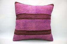 Kilim Sofa Pillow, 20x20 in, Decorative Throw Cushion, Handmade Vintage Pillow