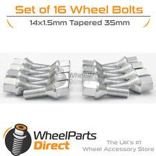 12+4 Black Wheel Bolts /& Locks 14x1.5 Nuts for Audi TTRS 8J 08-14