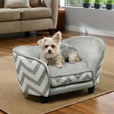 Enchanted Home Pet Snuggle Pet Sofa Bed 26.5 by 16 by 16-Inch Gray