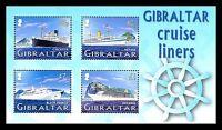 Cruise Ships souvenir sheet mnh 2005 Gibraltar Circassia Black Prince Arcadia