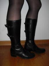 DEPECHE Stiefel Stiefeletten Echtleder schwarz Gr. 36 Budapester Schnallen