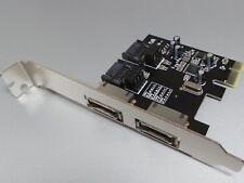 2fach SATA o. 2port eSATA PCIe Karte 3GB + Raid   #c640