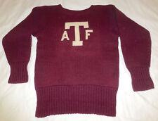 Vtg 1920s TEMPLE OWLS Varsity Soccer Football Letterman Sweater Charles Bartlett