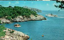 CARTOLINA VIAGGIATA=Isole Tremiti - Arrivo del postale Daunia=1971