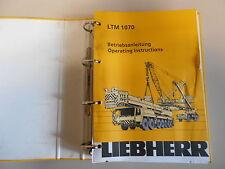 Liebherr grue mobile LTM 1070 notice d'instructions à partir de série 70