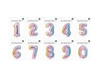 Multicolor Aluminio Número Globos para Cumpleaños & Niños Fiestas, Bodas, Etc.