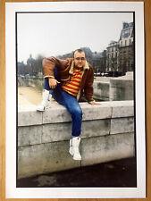 Keith Haring in Paris, Winter 1990, by S. Benhamou - Original Stamped Photo