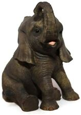 Out of Africa - Small Baby Jungle ELEPHANT Sitting Figurine Ornament