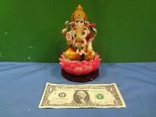Ganesh Ganpati Hindu Indian God Hand Painted Statue Sculpture Figurine - INV C