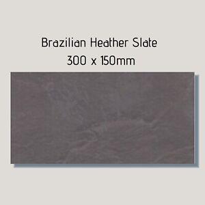 Heather Plum Cleft Brazilian Slate Floor Tiles 150x300x10mm £10.95 Per m2
