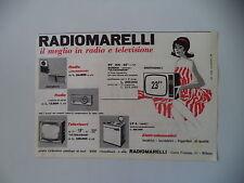 advertising Pubblicità 1961 RADIOMARELLI RADIO/TELEVISORE/LAVATRICE LV 4  UNIGET