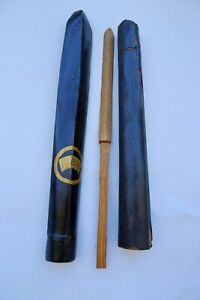 Antique japanese 2 yari saya  set armor sword